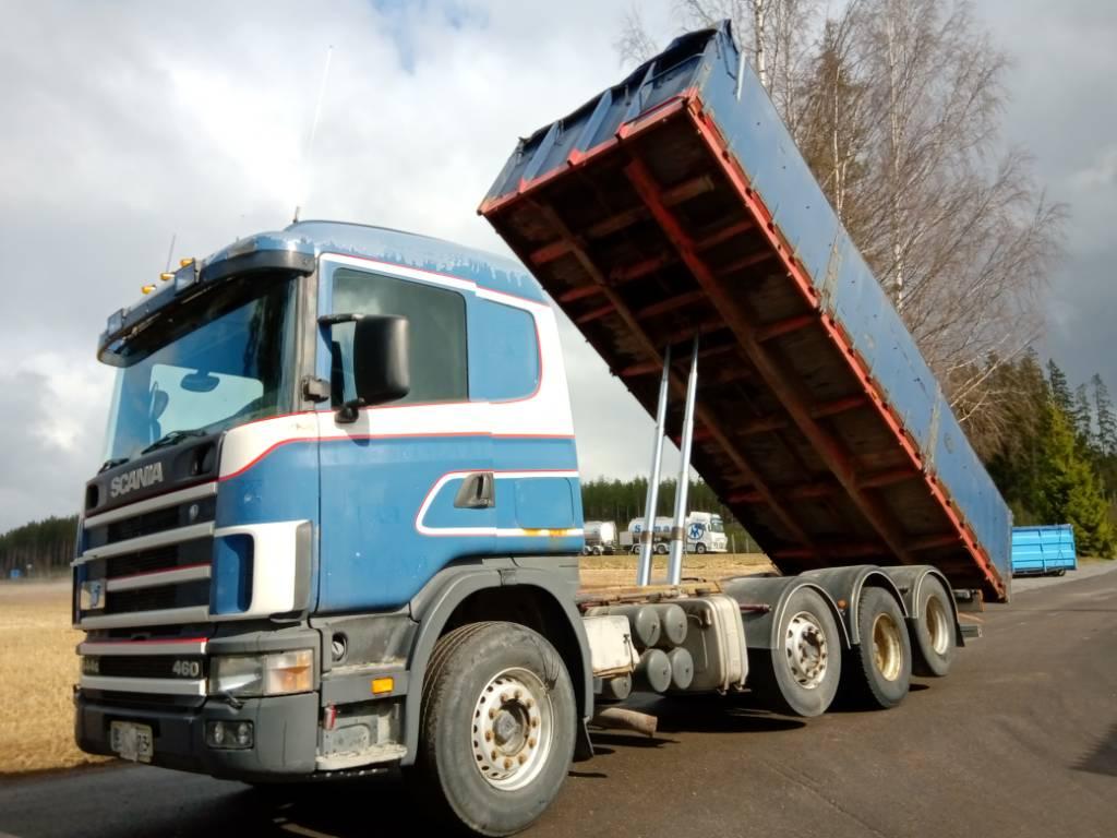 Scania R144 8x2 viljalava, Sora- ja kippiautot, Kuljetuskalusto