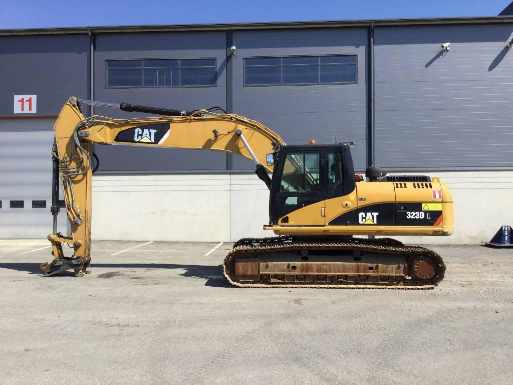 Caterpillar 323D, Crawler excavators, Construction