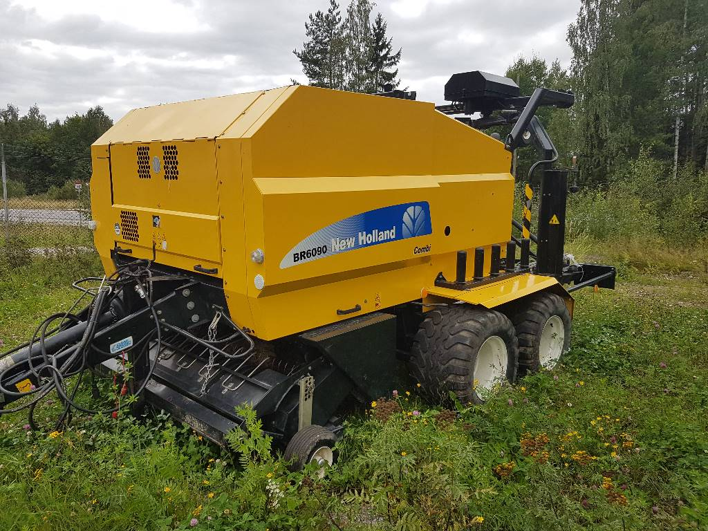 New Holland BR 6090 Combi, Rundbalspressar, Lantbruk