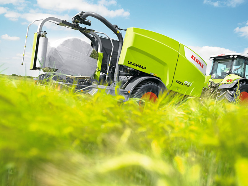 CLAAS Rollant 455 RC Uniwrap, Round Balers, Agriculture