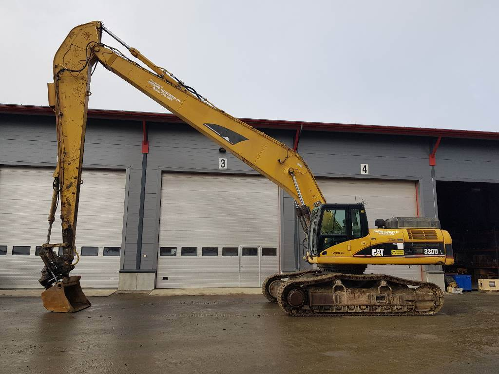 Caterpillar 330 D, Long reach excavators, Construction