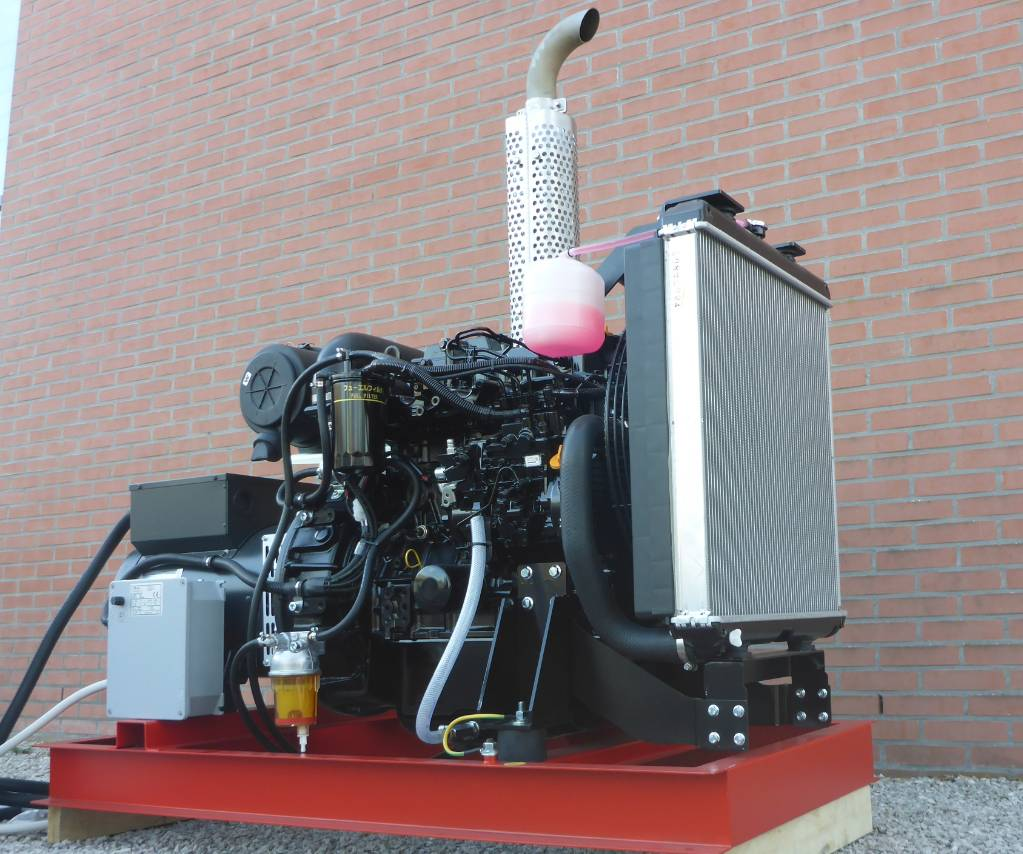 Yanmar 38 KVA Binnenvaart/offshore generator Stage V NRE, Marine auxiliary engines, Construction