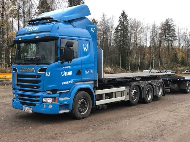 Scania R520, 8x2/4, Kontti-/tasonostoautot, Kuljetuskalusto