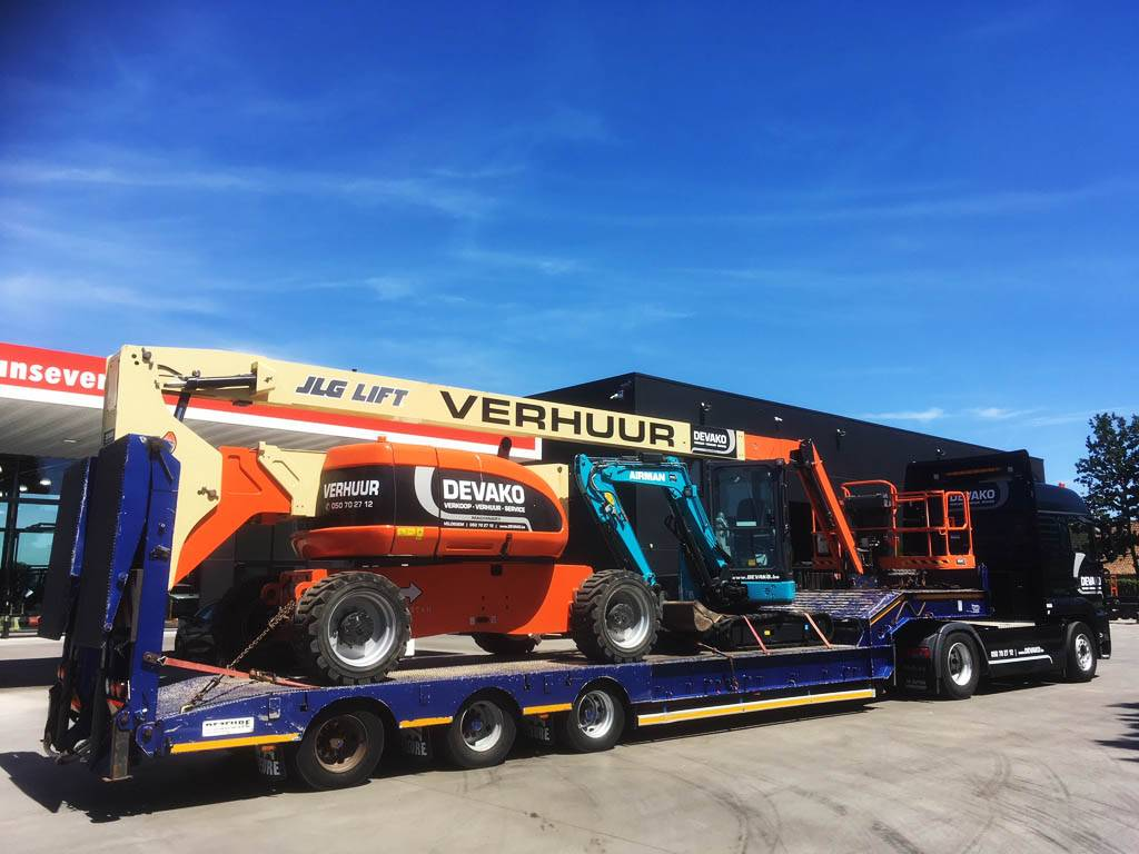 MAN + Dezeure dieplader, Low loader-semi-trailers, Transport