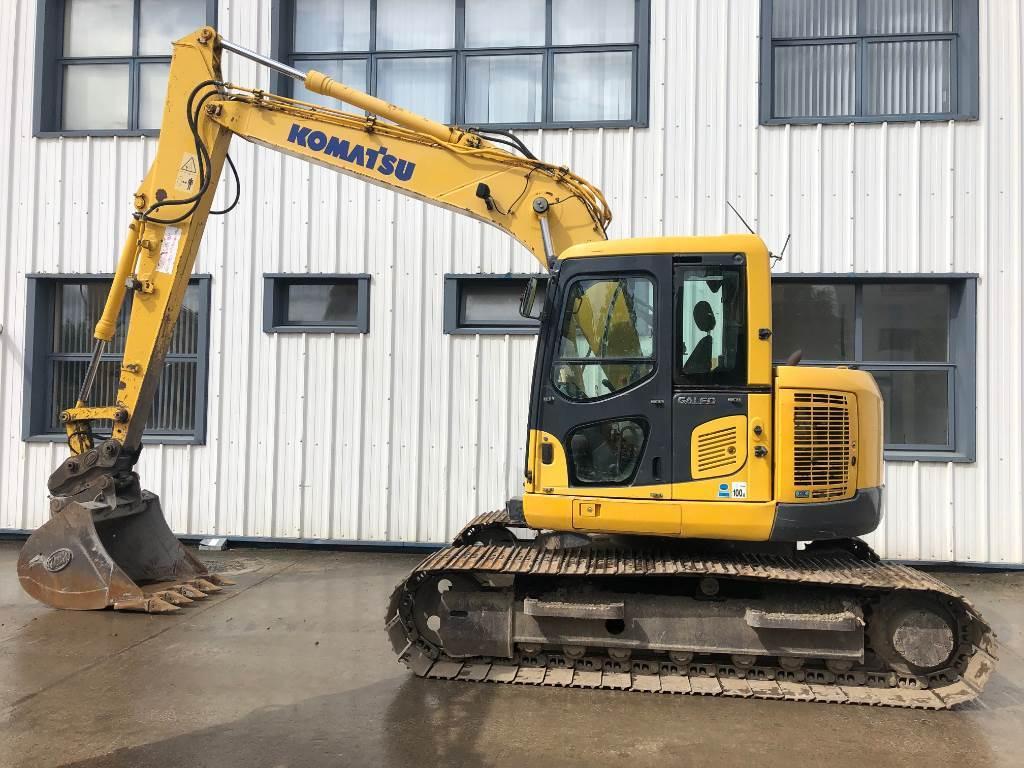 Komatsu PC138US-8, Crawler Excavators, Construction Equipment