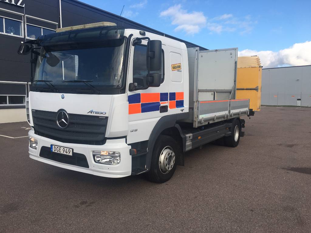 Mercedes-Benz Atego 1218 L, Flakbilar, Transportfordon