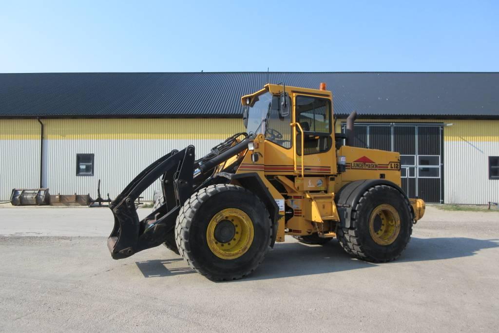 Ljungby L12 lastmaskin, 650 breda däck, Hjullastare, Entreprenad