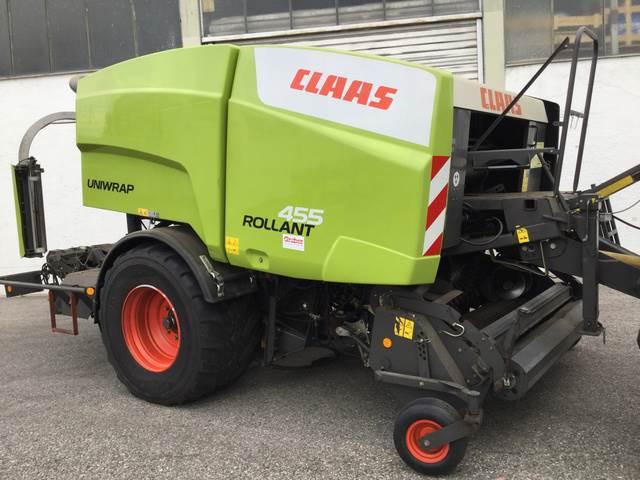 CLAAS Rollant 455 Uniwrap, Rundbalspressar, Lantbruk