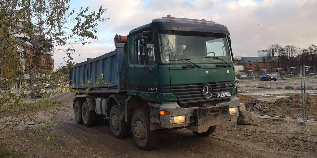 Mercedes-Benz Actros 4143 8x4, Wywrotki, Transport
