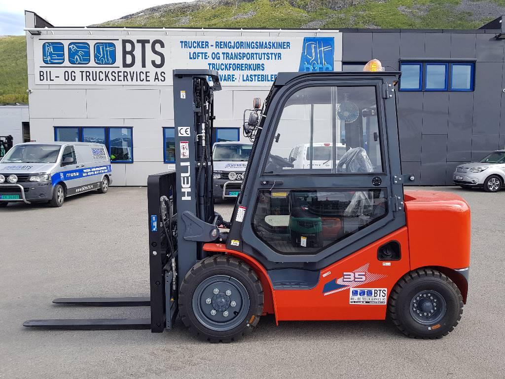 Heli CPCD35 (H3) - 3,5 t diesel - 4,7 m LH (PÅ LAGER), Diesel Trucker, Truck