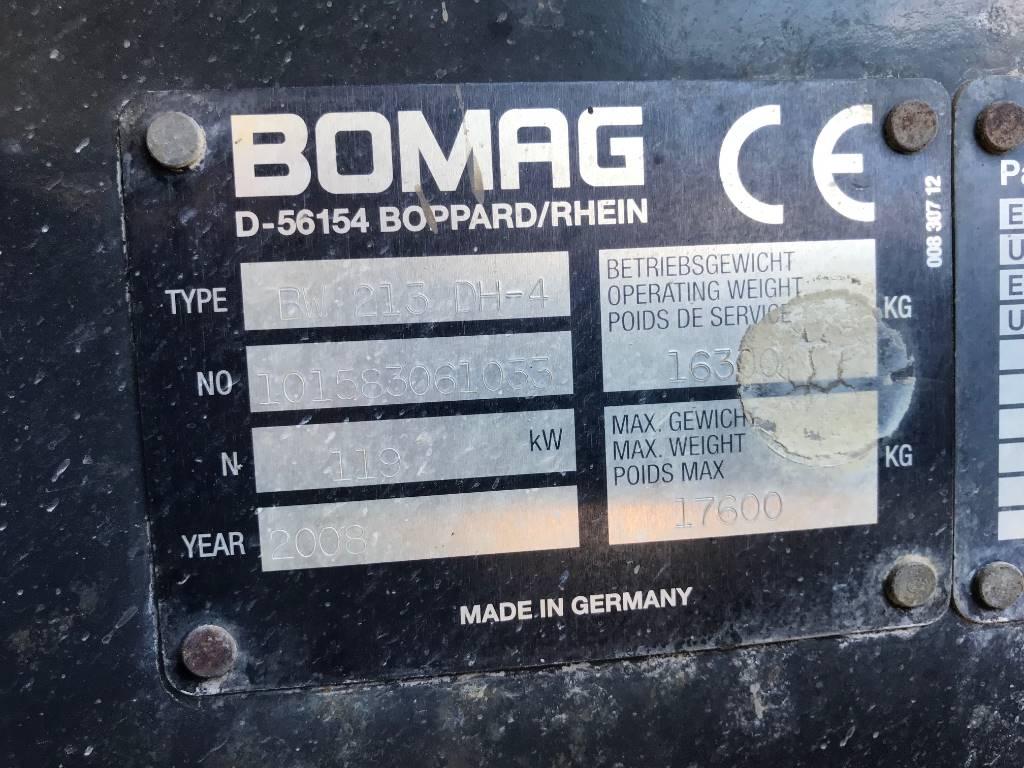 Bomag BW 213 D H-4 BVC BCM-05, Vienvalča grunts veltņi, Būvtehnika