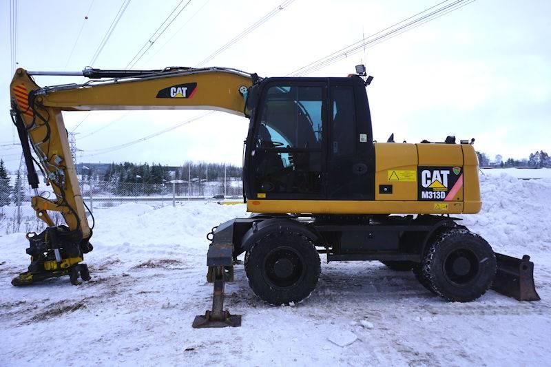 Caterpillar M313D, Wheeled Excavators, Construction Equipment
