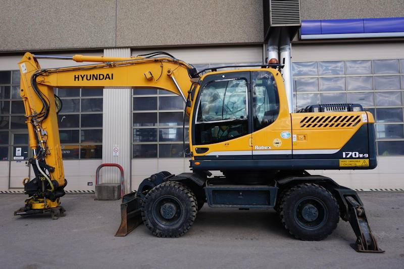Hyundai R170W, Wheeled Excavators, Construction Equipment