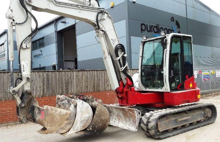 Takeuchi TB280FR, Midi excavators  7t - 12t, Construction