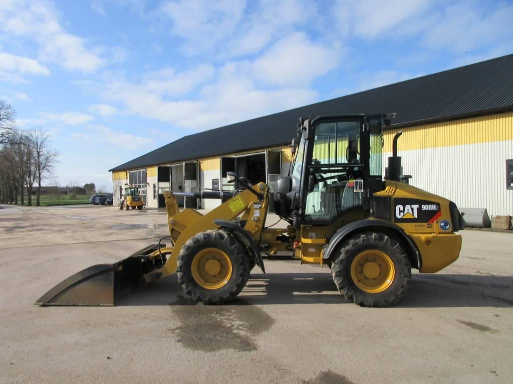 Caterpillar 908 H2 lastmaskin, 35 km/h, BSS, Hjullastare, Entreprenad