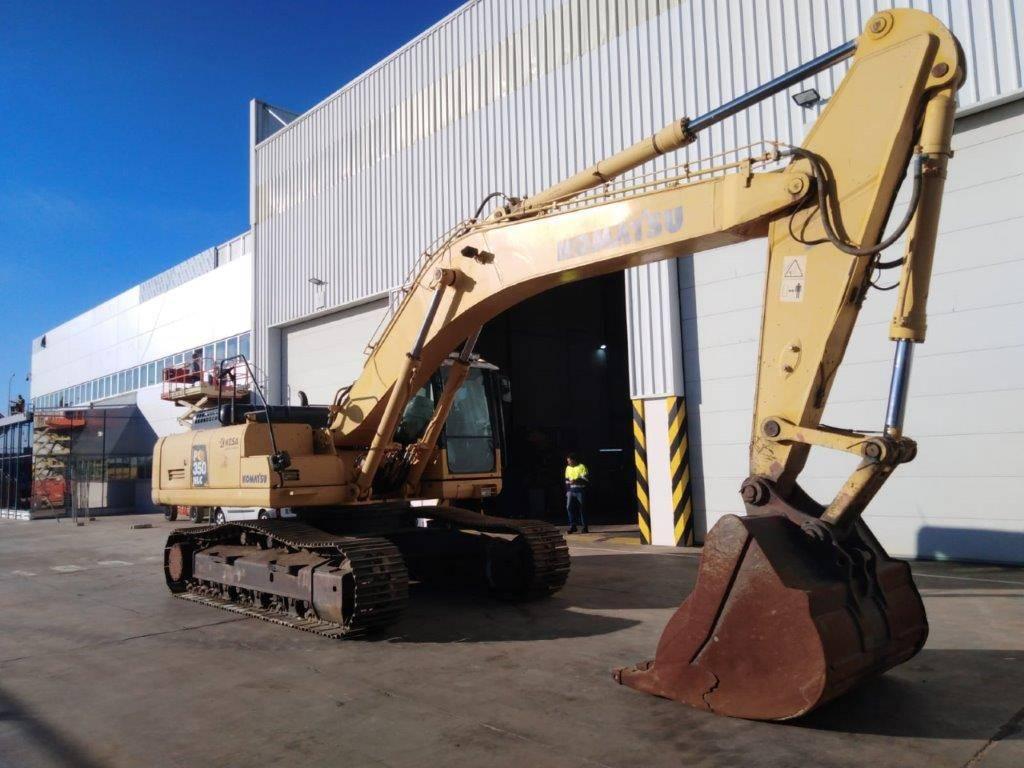 Komatsu PC350NLC-8, Excavadoras de cadenas, Construcción