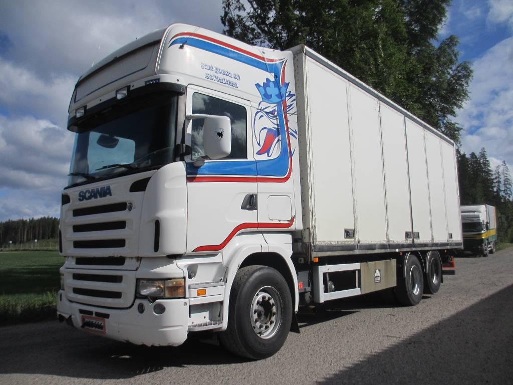 Scania R500 6x2 kokosivuaukeavakori,rautajouset, Umpikorikuorma-autot, Kuljetuskalusto