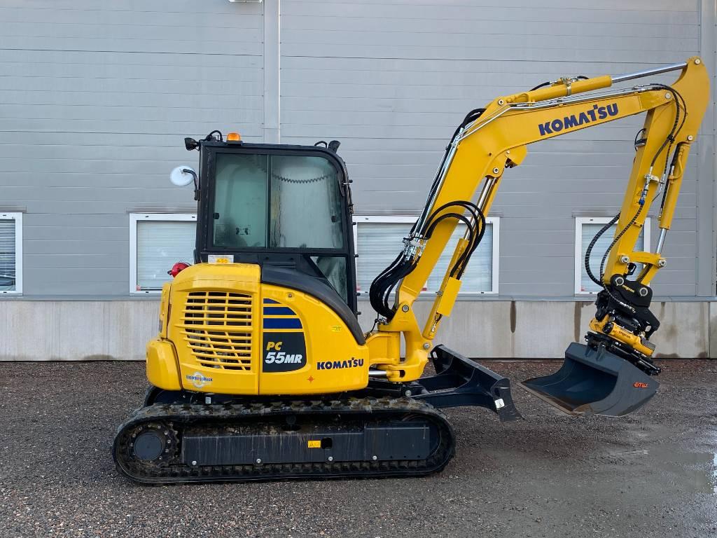 Komatsu PC55, Mini excavators, Construction Equipment