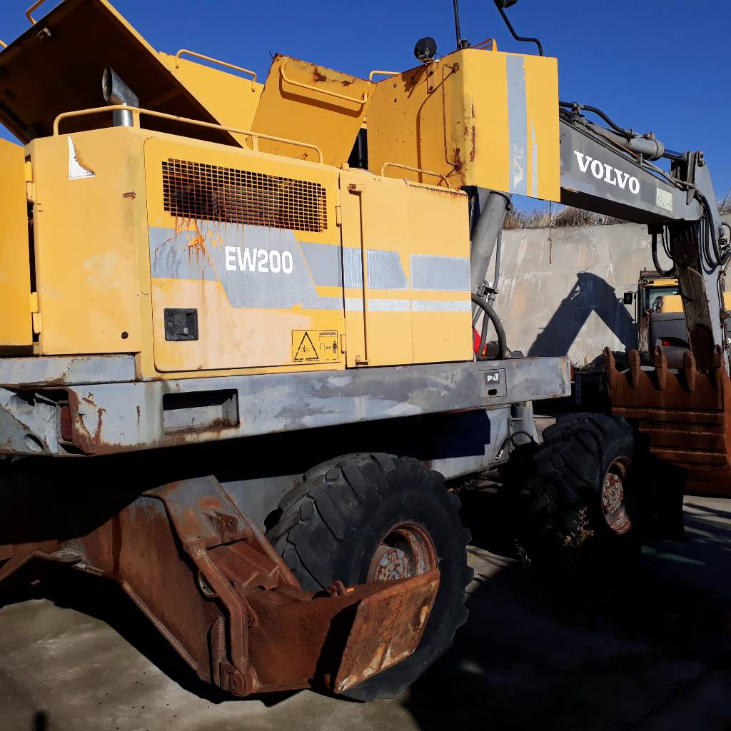 Volvo EW200, Wheeled Excavators, Construction Equipment