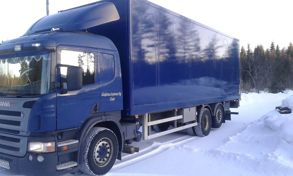 Scania P 124 6X2, Box body trucks, Transportation