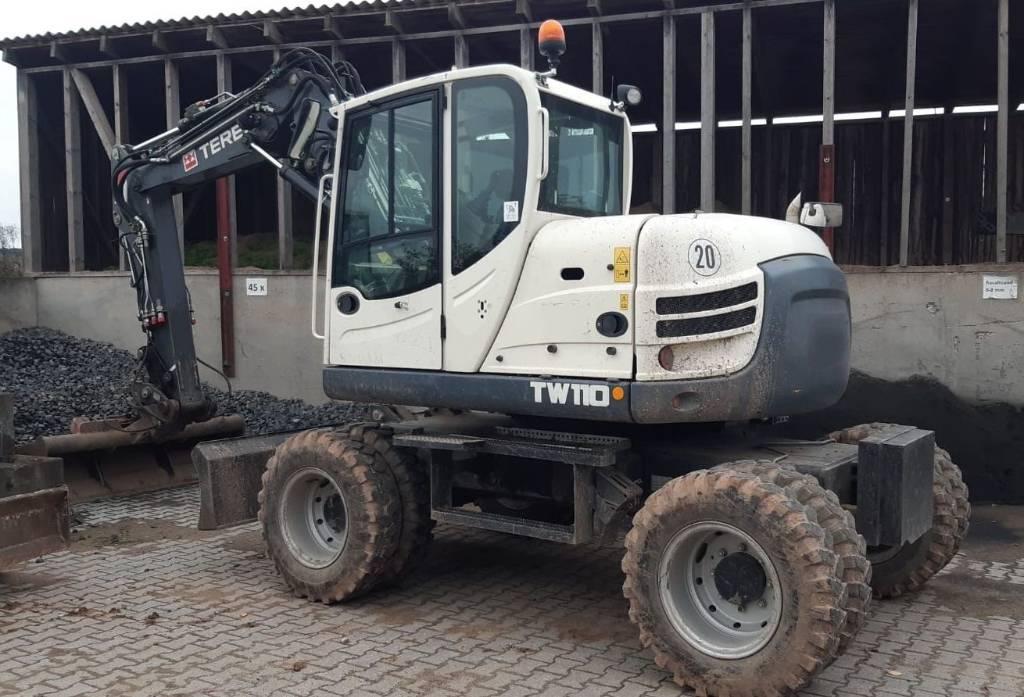 Terex TW 110, Mobilbagger, Baumaschinen