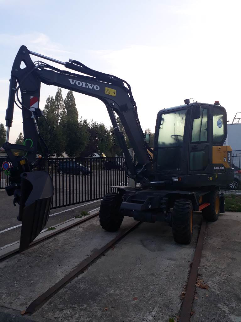 Volvo EW60E, Mini excavators  7t - 12t, Construction Equipment