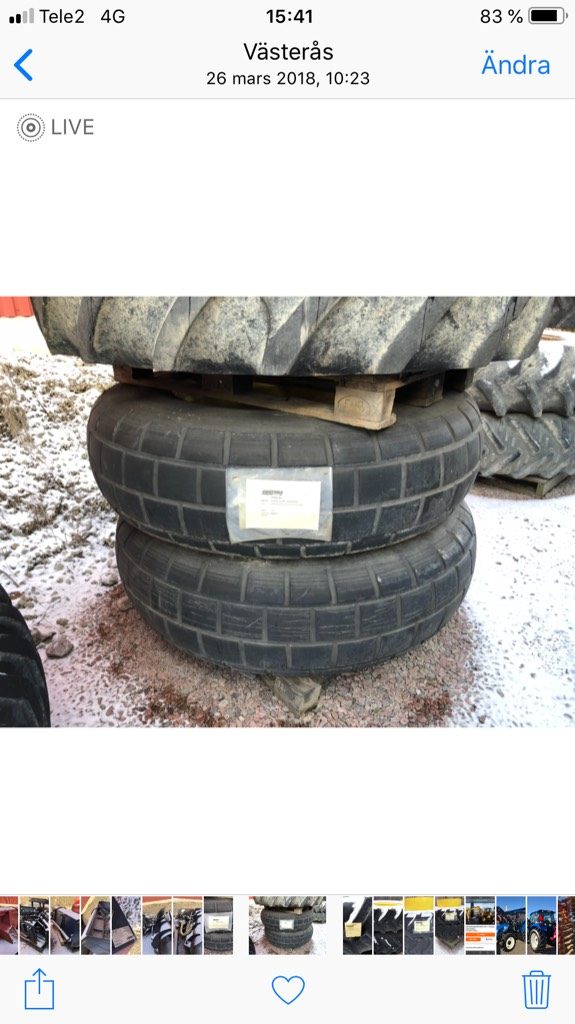 [Other] Grönyte hjul 16,9x34 passar JD, Övriga grönytemaskiner, Grönytemaskiner