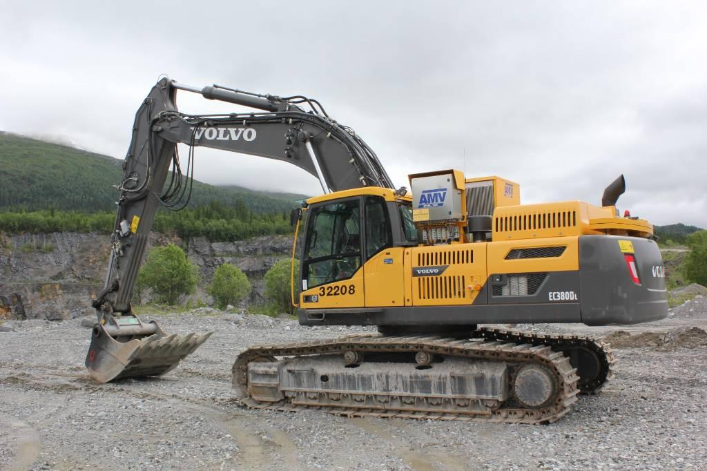Volvo EC 380 D L m/AMV Boretårn, Crawler Excavators, Construction Equipment