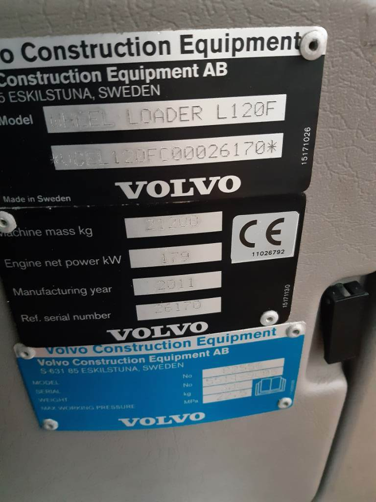 Volvo L 120 F, Pyöräkuormaajat, Maarakennus