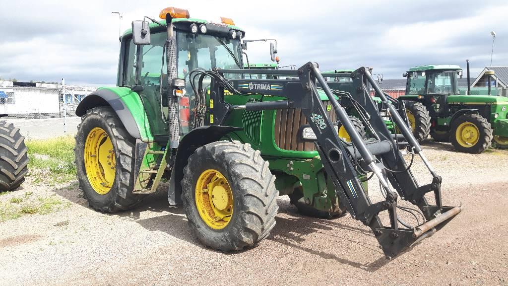 John Deere 6520 4WD FL, Trima 4.80 - 03, Traktorer, Lantbruk
