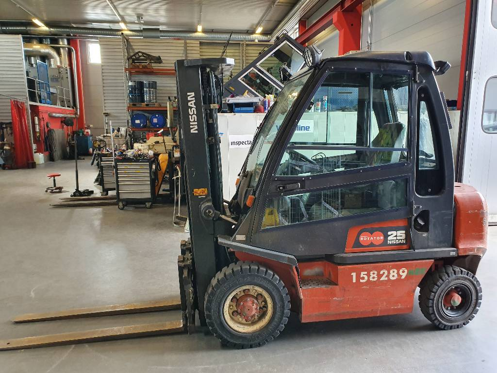Nissan FD02A250Q, Dieseltrukit, Materiaalinkäsittely