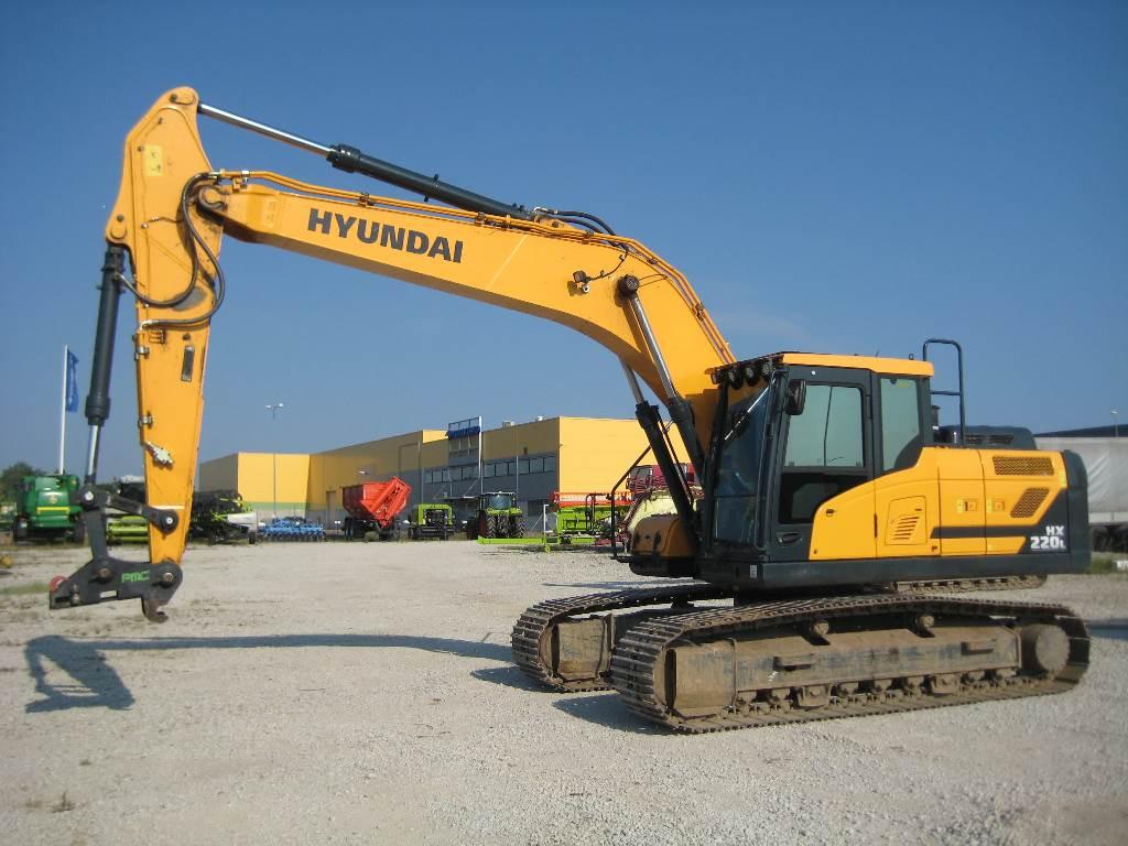 Hyundai HX220L, Crawler excavators, Construction