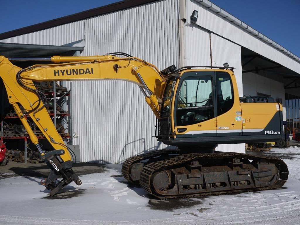 Hyundai R 140 LCM-9 / metsämalli, kallistaja, Telakaivukoneet, Maarakennus