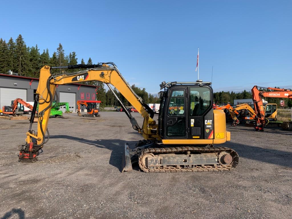 Caterpillar 308 E 2 CR, Midi excavators  7t - 12t, Construction