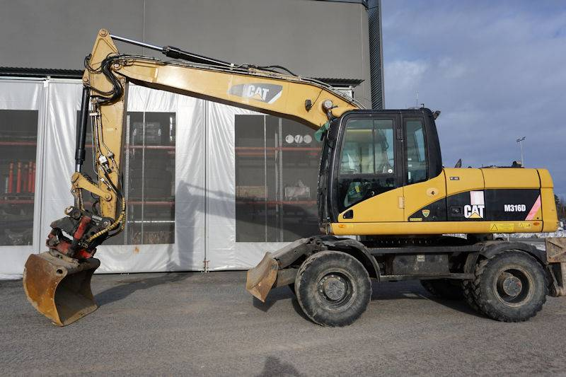 Caterpillar M316D, Wheeled Excavators, Construction Equipment