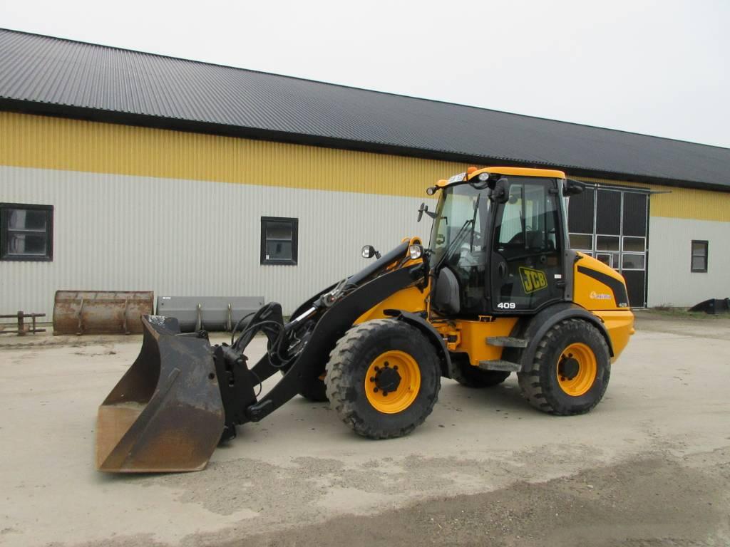 JCB 409 lastmaskin, svensksåld, 40 km/h, Hjullastare, Entreprenad