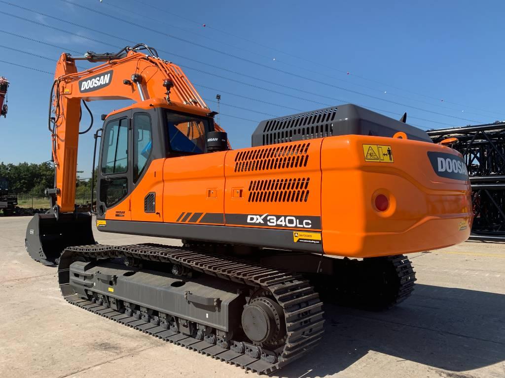 Doosan DX 340 LC (2pieces), Crawler excavators, Construction