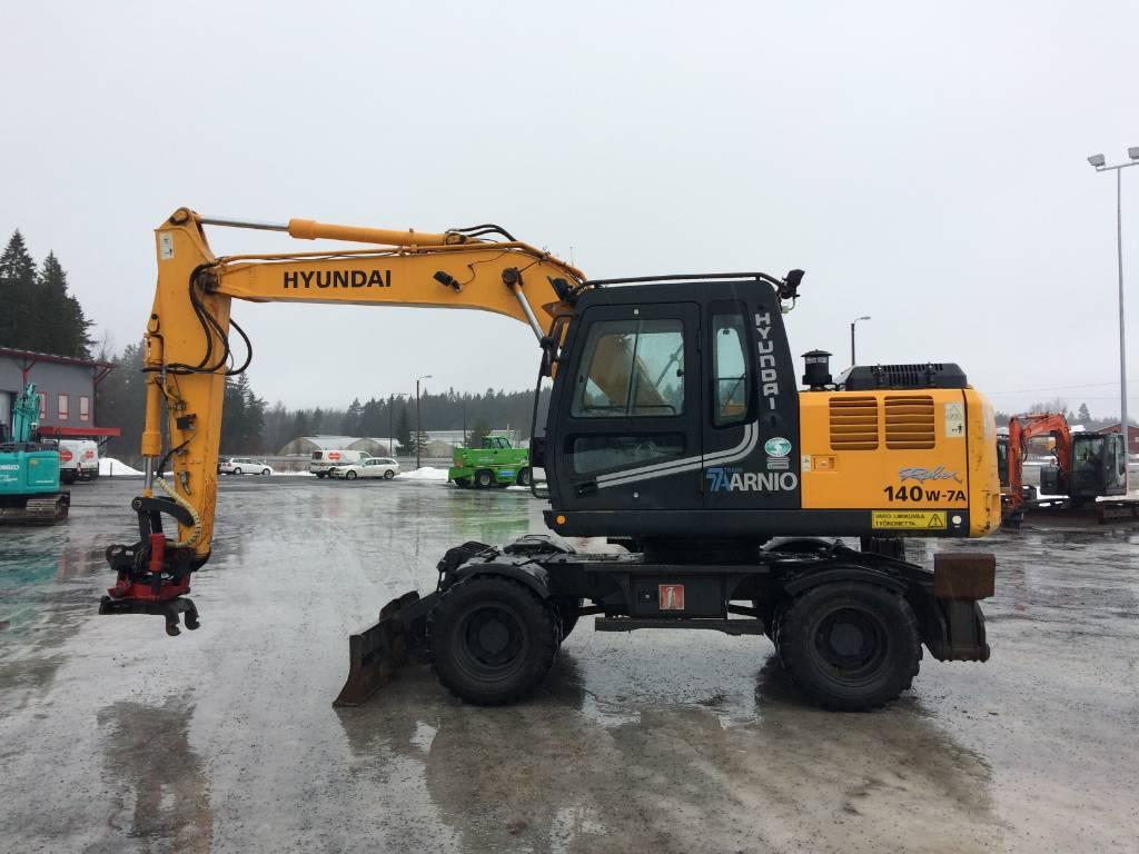 Hyundai Robex 140 W, Hjulgrävare, Entreprenad