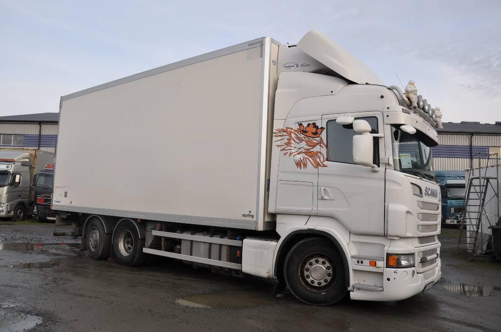 Scania R500 6X2, Skåpbilar Kyl/Frys/Värme, Transportfordon