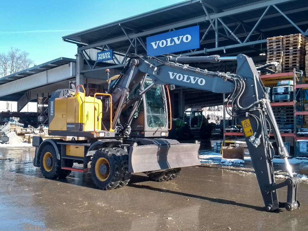 Volvo EWR 150 E, Wheeled Excavators, Construction Equipment
