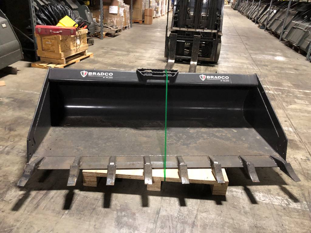 Bradco Long Floor Low Profile Bucket, Skid Steer Loaders Attachments, Products