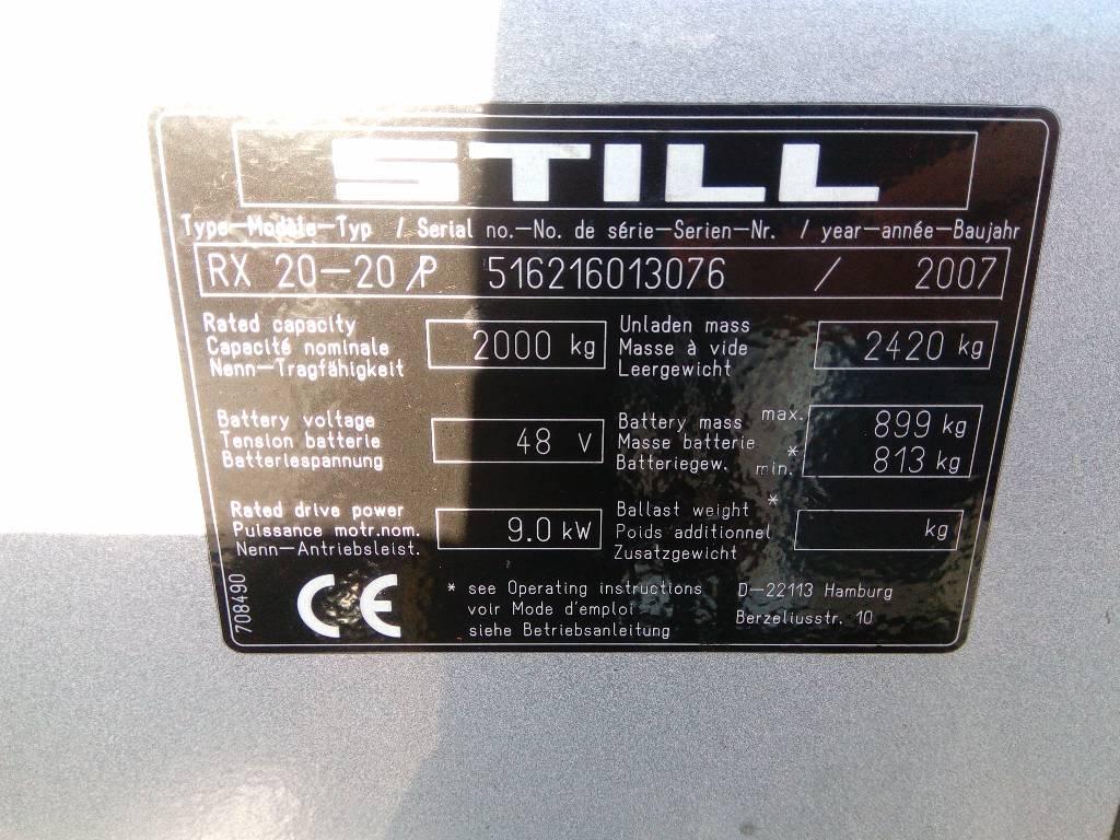 Still RX20-20P, Sähkötrukit, Kaikki trukit