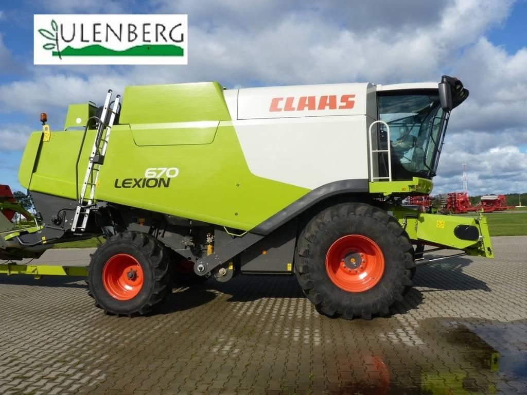 CLAAS Lexion 670 Ti+c750+stół+w.transportowy, Kombajny zbożowe, Maszyny rolnicze