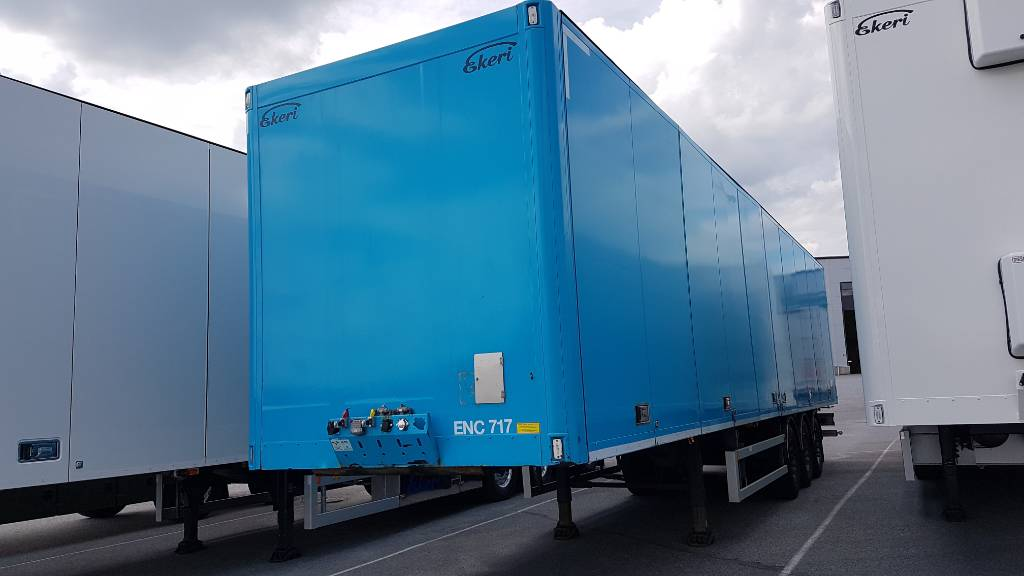 Ekeri kappaletavarapuoliperävaunu, Europa mitat, DKY-718, Box body semi-trailers, Transportation