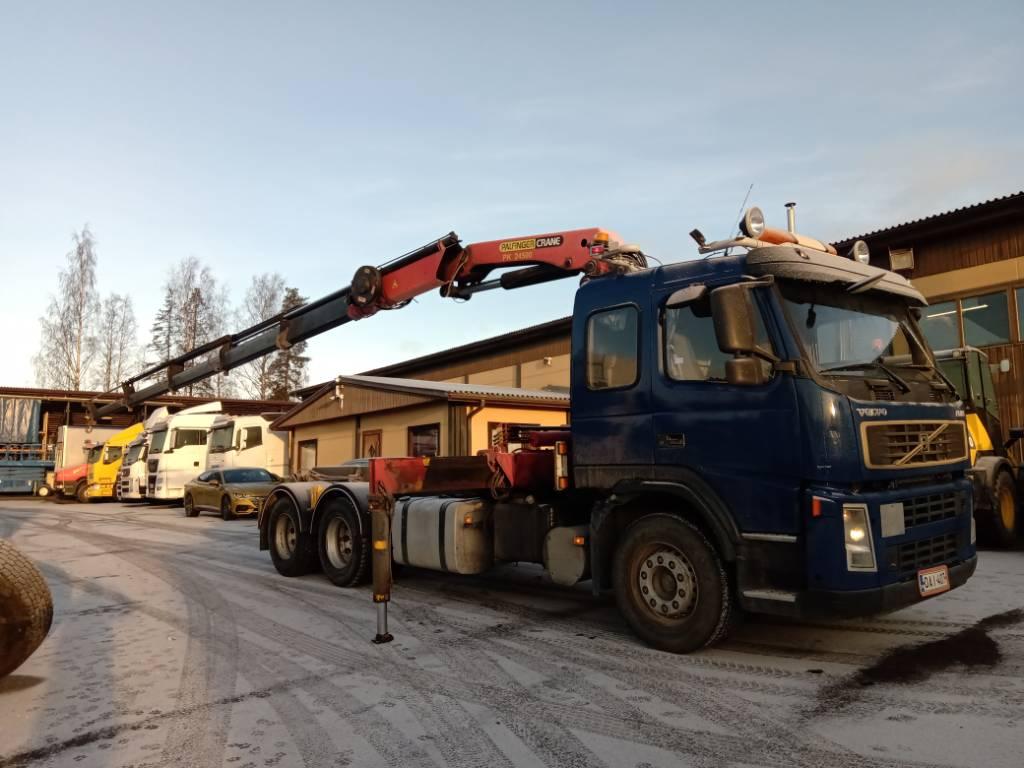 Volvo FM380 6x4 vaijerilaitteet+Palfinger 5jatkoinen, Vaihtolava-autot, Kuljetuskalusto