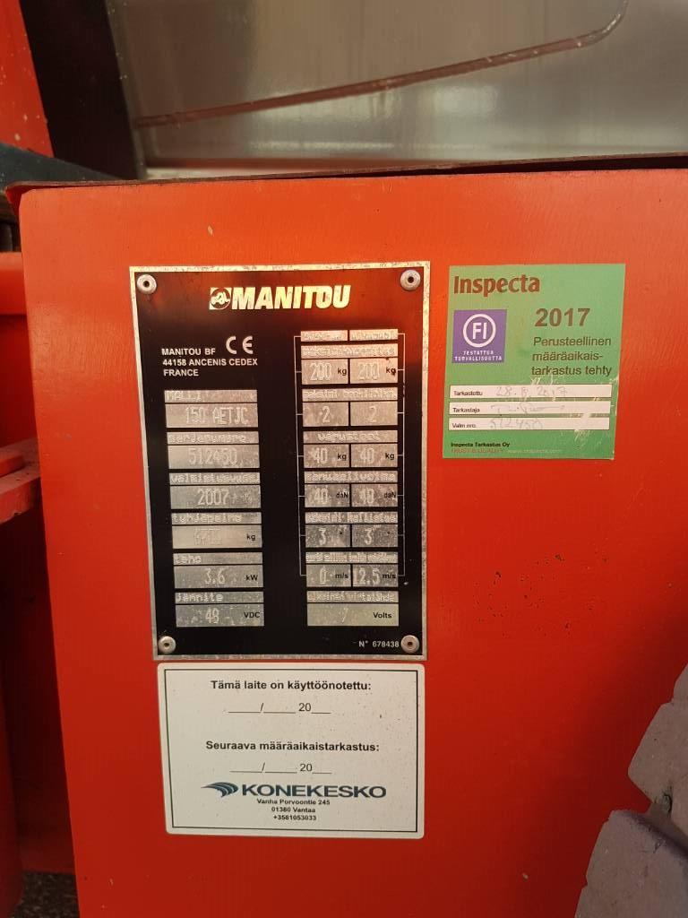 Manitou 150 AET JC 3D, Kuukulkijat, Maarakennus