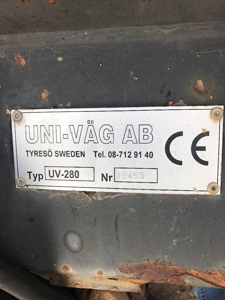 Uni-väg vikplog med bom 2,8, Snöplogar, Lantbruk
