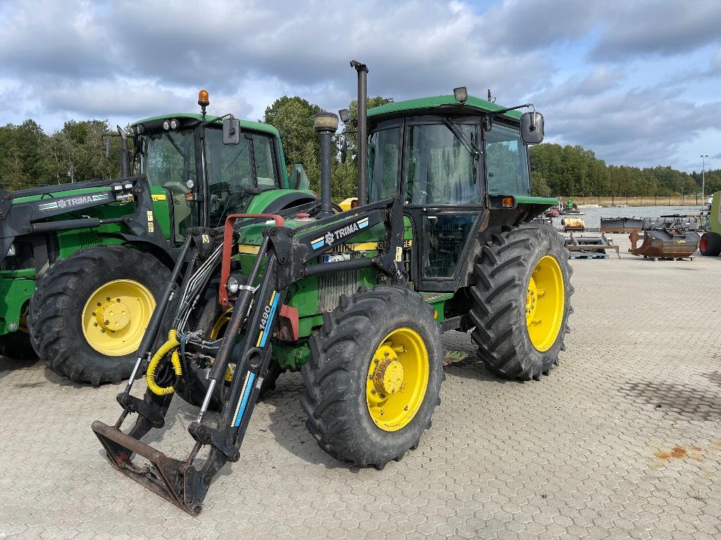 John Deere 1640 4WD Trima 1490 lastare, Traktorer, Lantbruk