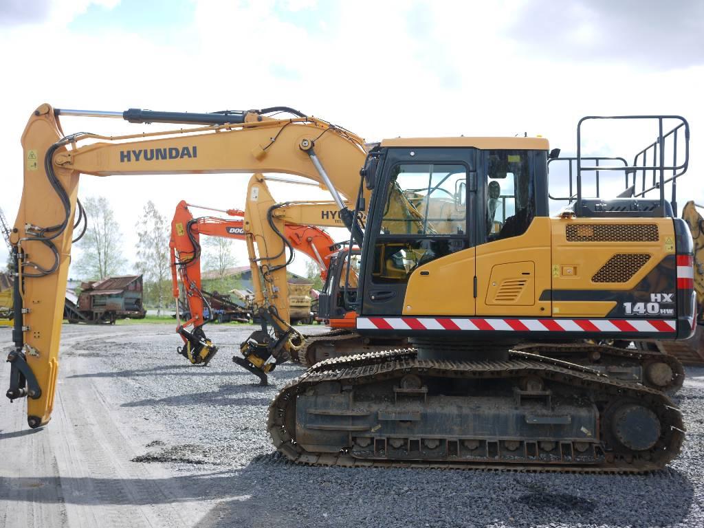 Hyundai HX 140 HW / metsämalli, Telakaivukoneet, Maarakennus