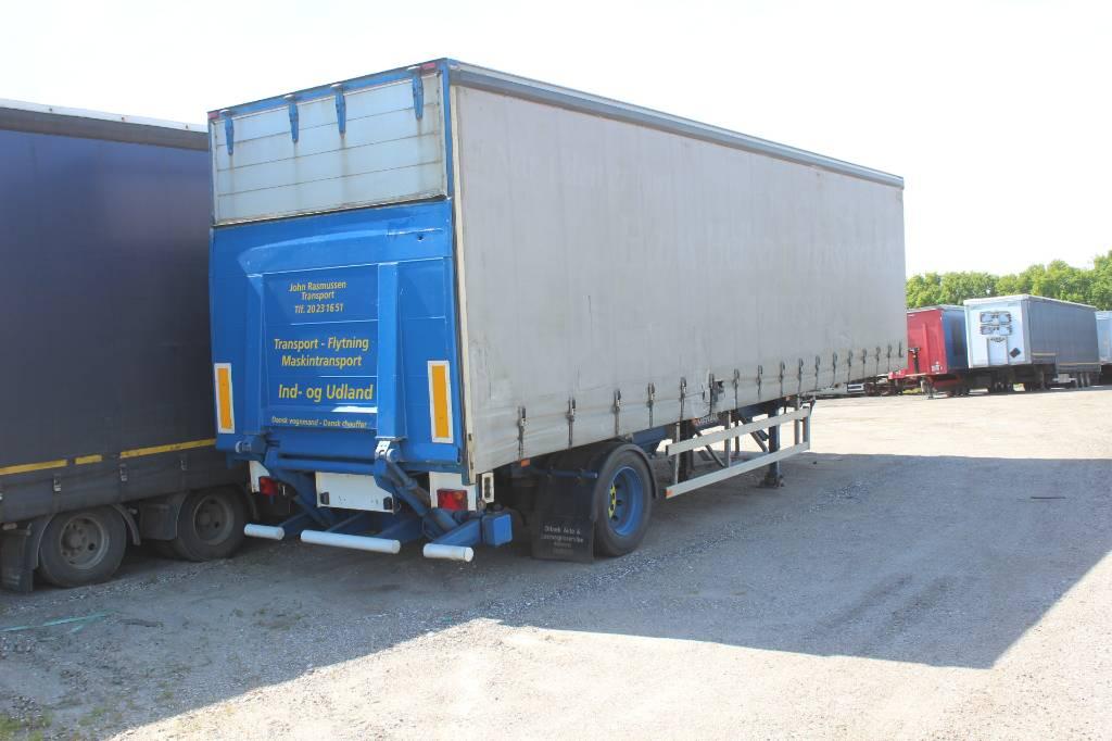 Fruehauf 1 akslet citygardintrailer, Semi-trailer med Gardinsider, Transport